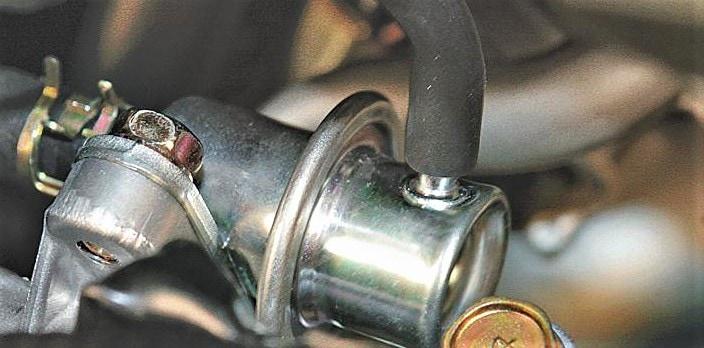 Ubicación del regulador de presión de combustible