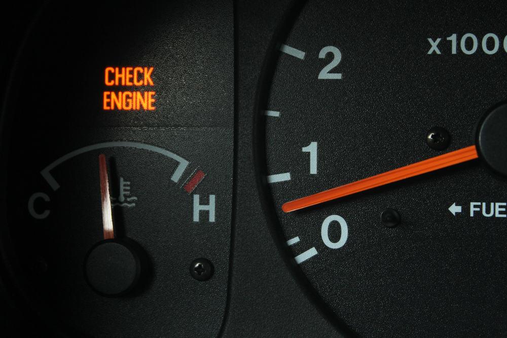 Compruebe la luz del motor